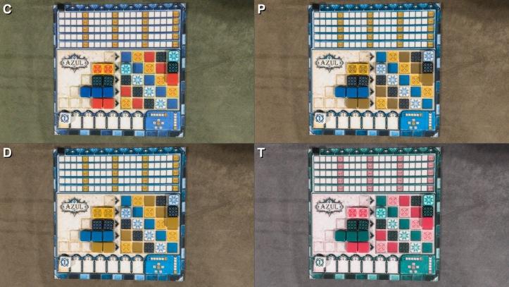 Acessibilidade do jogo de tabuleiro AZUL