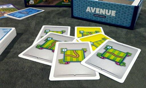 Cartas de estrada do jogo Avenue