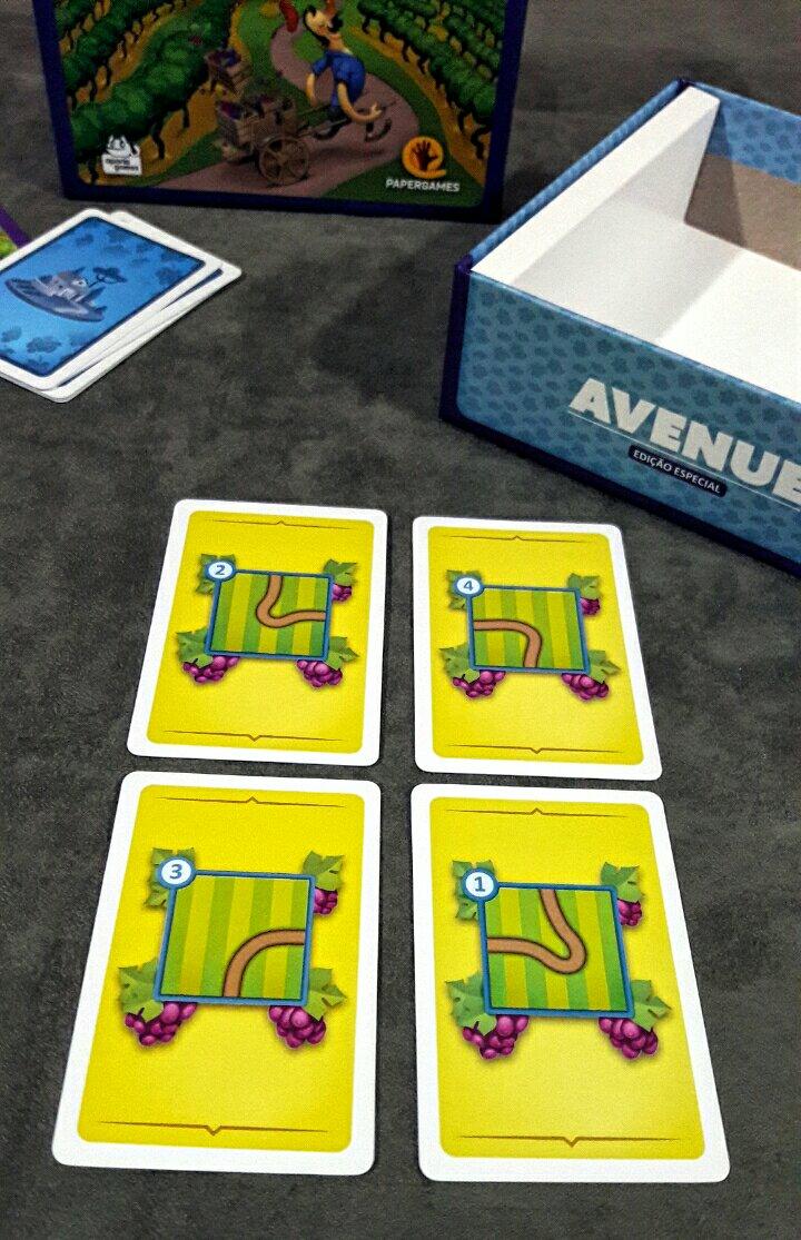 Cartas de desenho do jogo Avenue