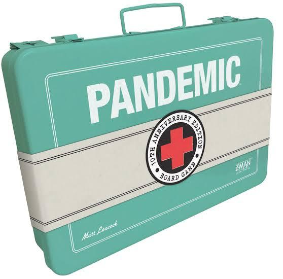 Jogo de tabuleiro Pandemic 10 anos