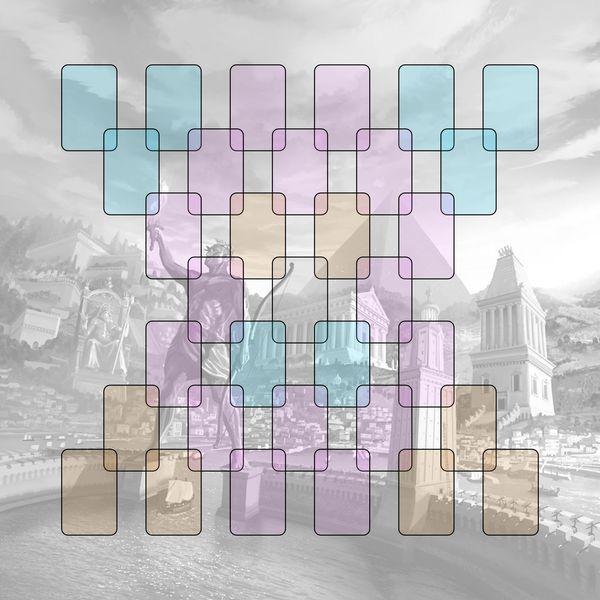 Playmate para jogo de tabuleiro 7 Wonders