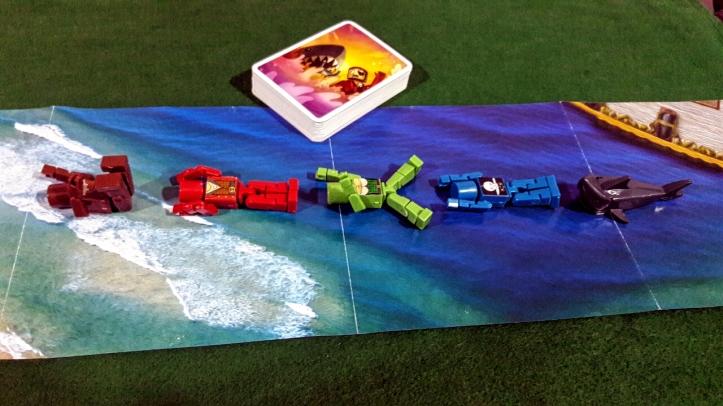 Os piratas em fuga no jogo de tabuleiro Get Bit
