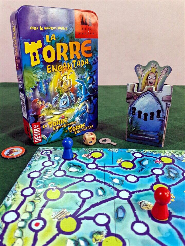Jogo de tabuleiro infantil A Torre Encantada