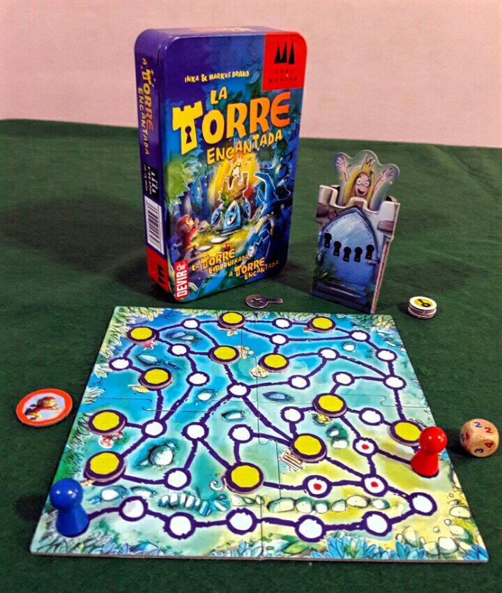 Componentes do jogo infantil A Torre Encantada