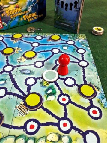 O tabuleiro do jogo infantil A Torre Encantada