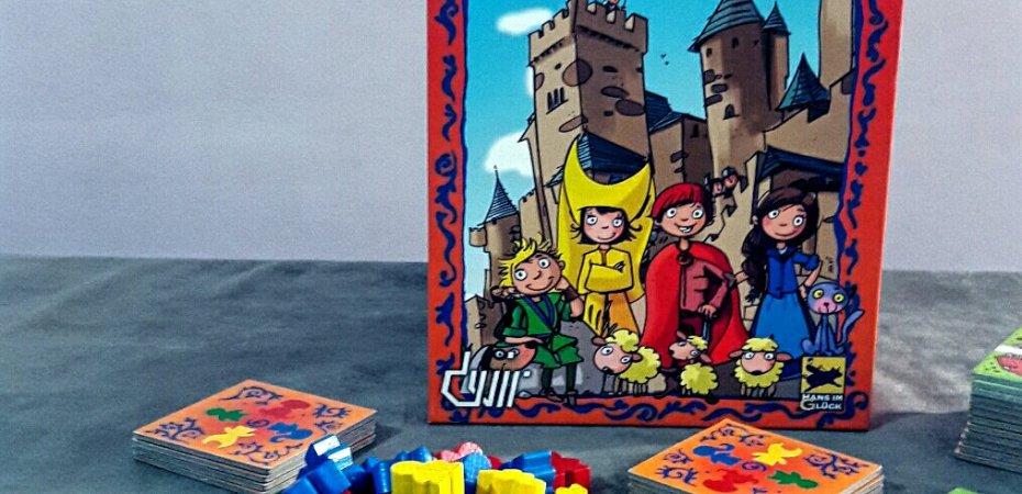 Caixa jogo de tabuleiro infantil My First Carcassonne