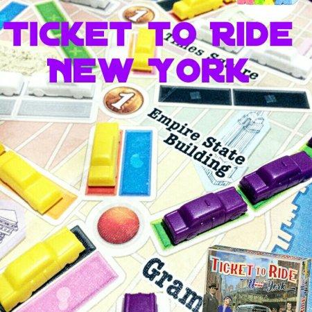 Táxis no mapa do jogo de tabuleiro Ticket to ride New York