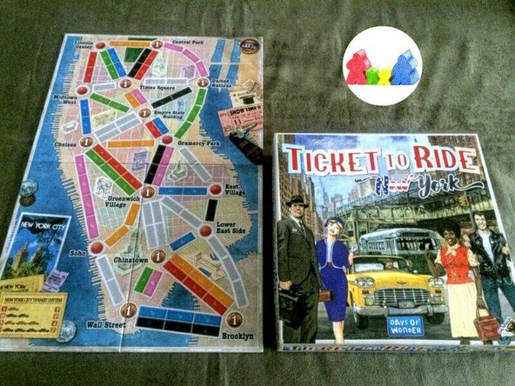 Um mapa reduzido mas que não deixa a experiência ser pior no Ticket To Ride New York