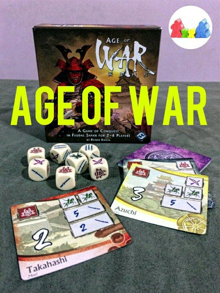 Caixa jogo de tabuleiro Age of War