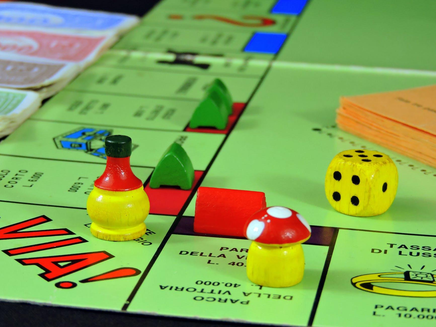 board game dice fun game