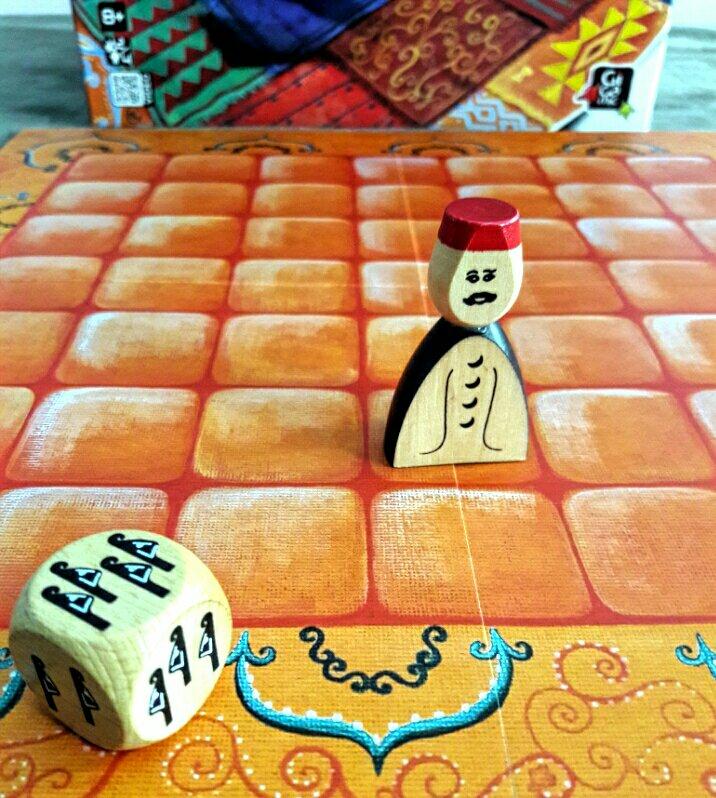 O Asam no jogo de tabuleiro Marrakech