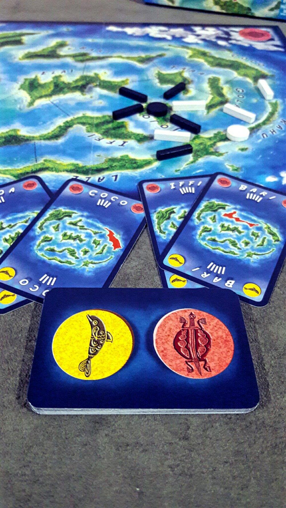 Cartas do jogo de tabuleiro Kahuna