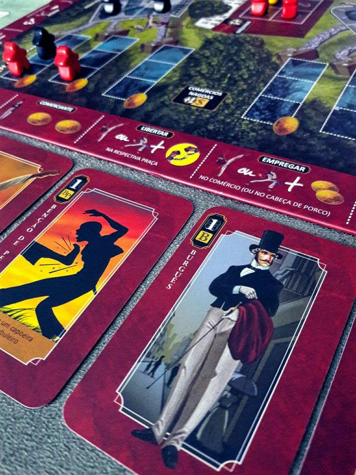 Cartas do jogo de tabuleiro Quissama