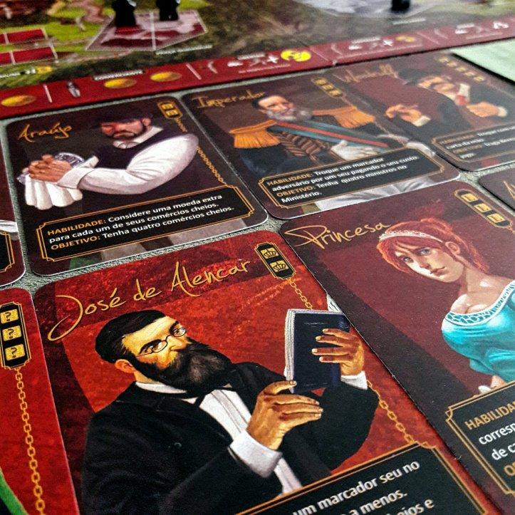 Personagens do jogo de tabuleiro Quissama