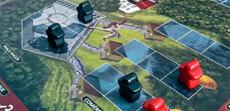 Locais do tabuleiro do jogo Quissama