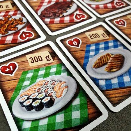 Caixa do jogo de cartas Fat Food