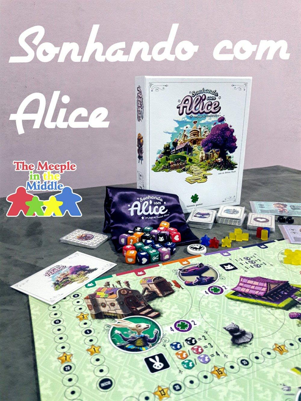 Jogo de tabuleiro Sonhando com Alice