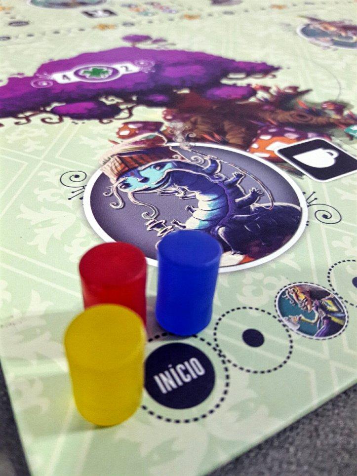 Trilha da lagarta jogo de tabuleiro Sonhando com Alice