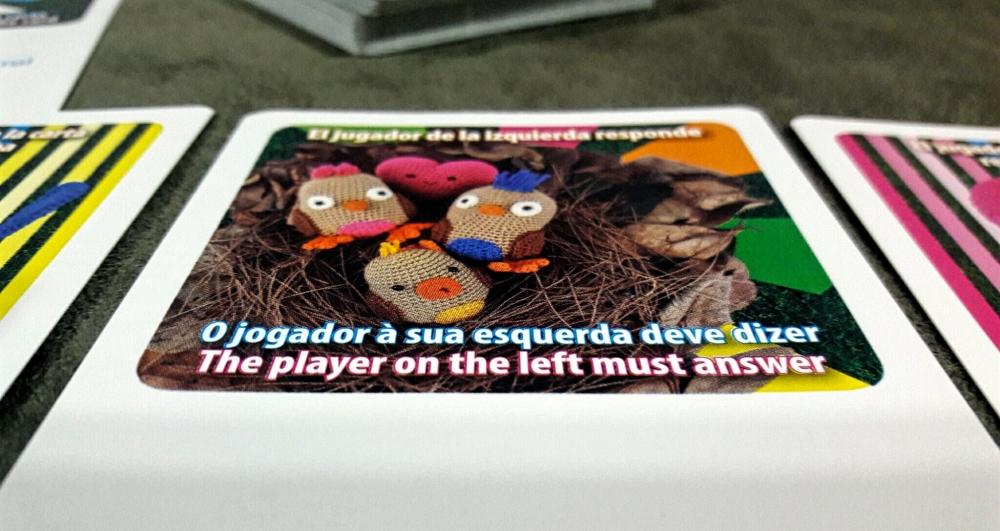Cartas do jogo infantil Brincar+Juntos