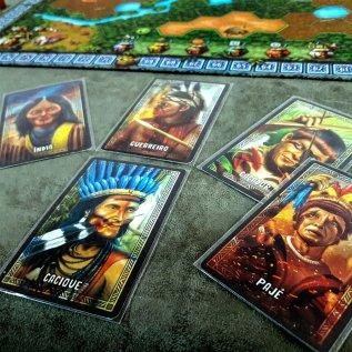 Personagens jogo de tabuleiro Xingu