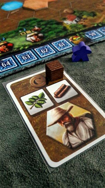 Carta de recurso jogo de tabuleiro Xingu