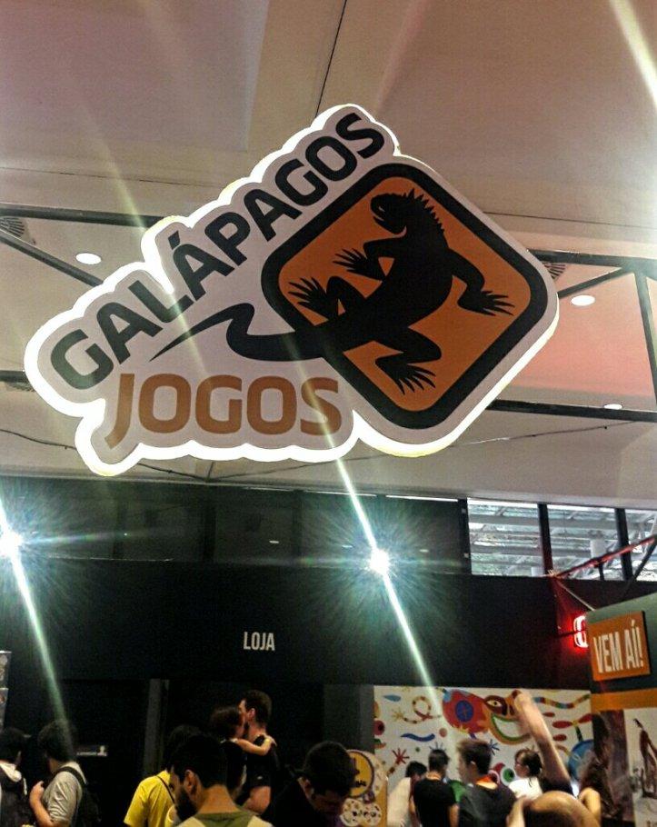 Estande da Galápagos Jogos no Diversão Offline 2019