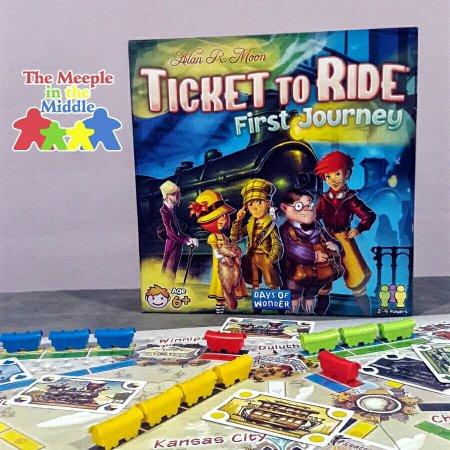 Jogo de tabuleiro infantil Ticket to Ride First Journey