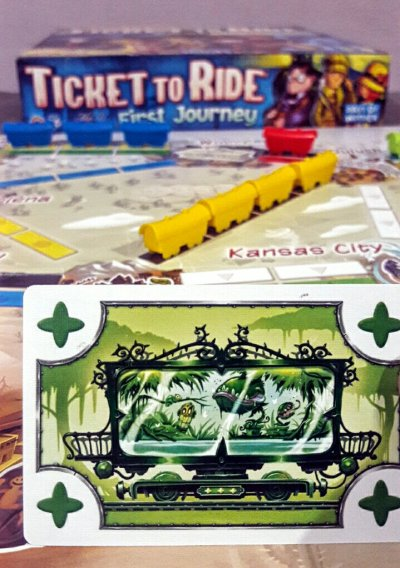 Cartas do jogo infantil Ticket to Ride First Journey