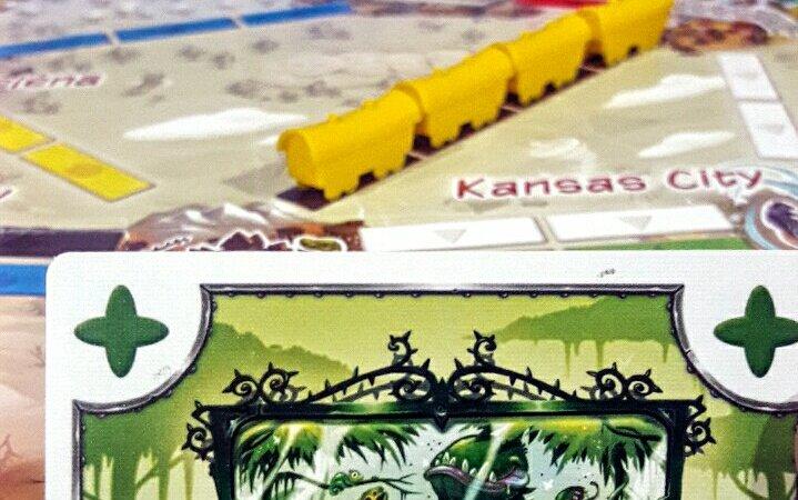Cartas do jogo infantil Ticket to Ride First Journey