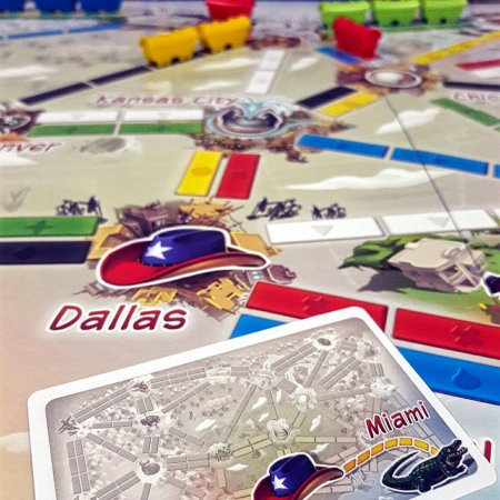 Rotas do jogo de tabuleiro infantil Ticket to Ride First Journey