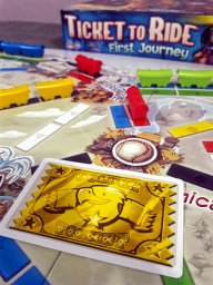 Carta do vencedor jogo infantil Ticket to Ride First Journey