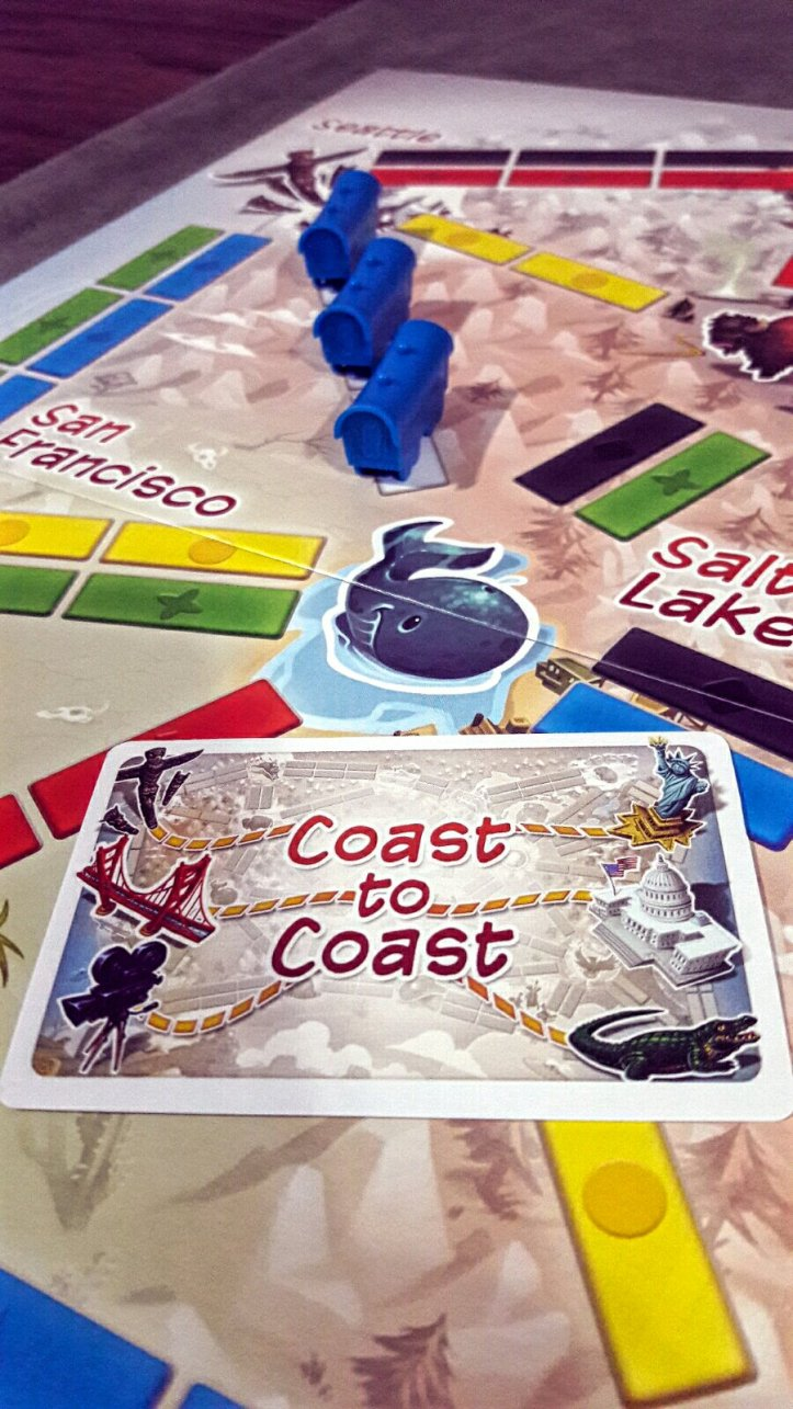 Bilhete costa a costa do Ticket to Ride First Journey