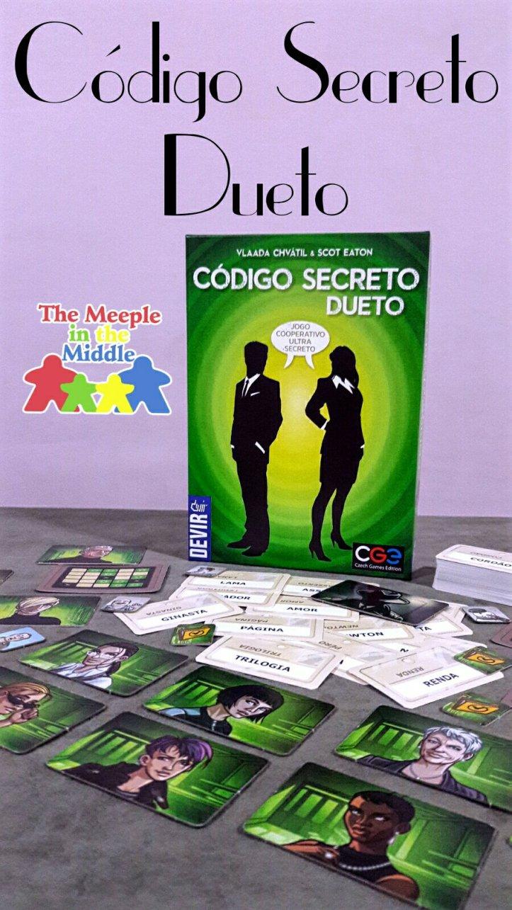 Jogo de tabuleiro Código Secreto Dueto