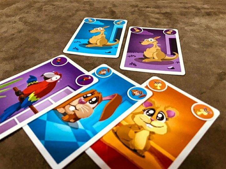 Carta promocional Canguru do jogo infantil Quem Foi?