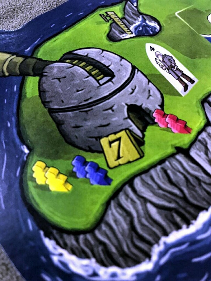 Ilha do construtor jogo de tabuleiro Luna