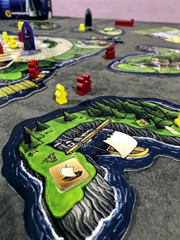 Ilha do veleiro jogo de tabuleiro Luna