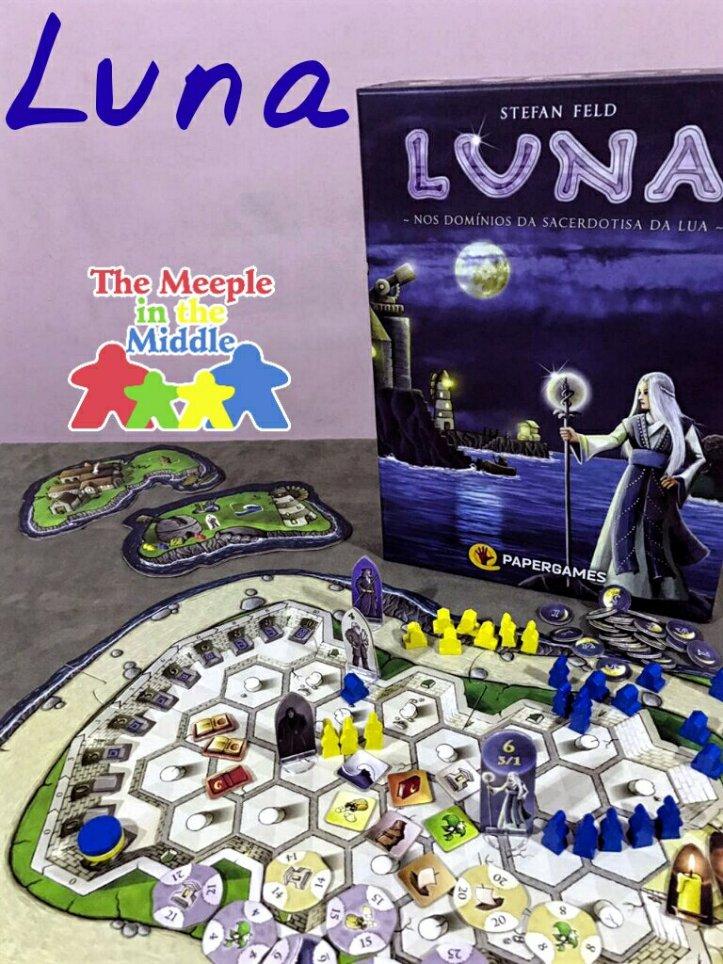 Jogo de tabuleiro Luna da editora Papergames