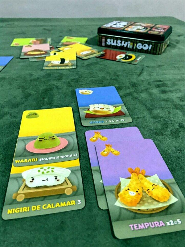 Cartas do jogo de cartas Sushi Go!