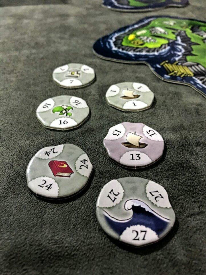 As pedras do templo do jogo de tabuleiro Luna