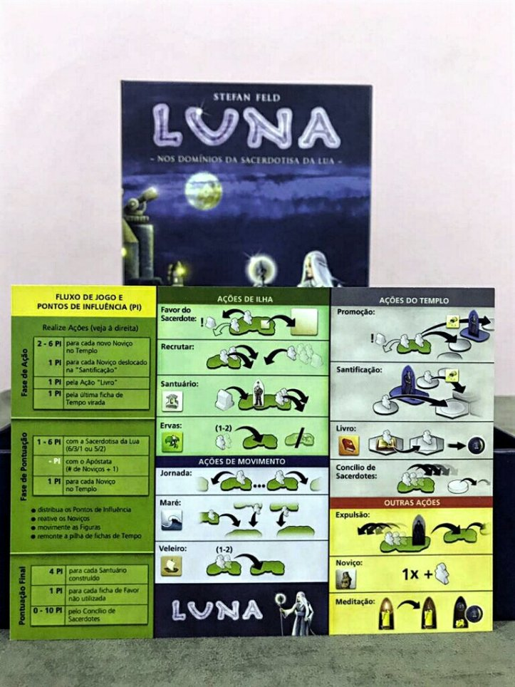 Ficha de ajuda do jogo de tabuleiro Luna