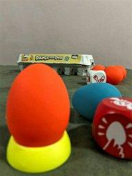 Ovos de borracha do Jogo infantil a Dança dos Ovos