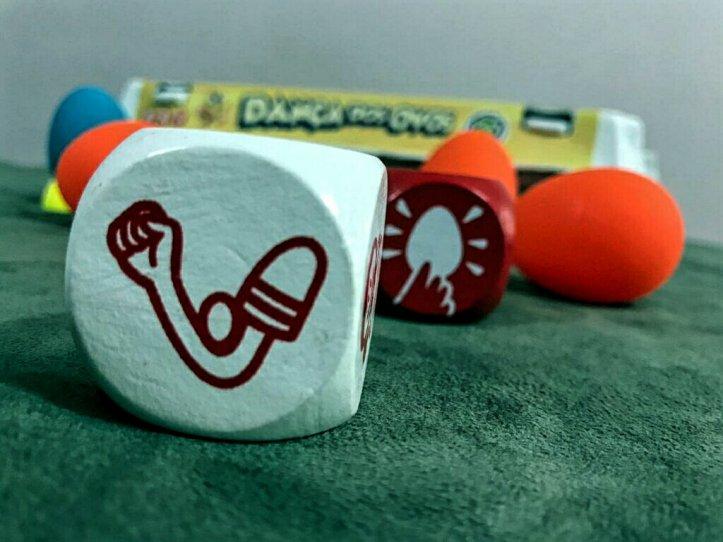 Dados do Jogo infantil a Dança dos Ovos