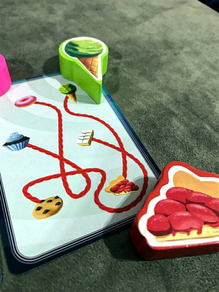 Carta de doces do jogo infantil Bolachas