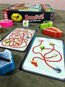 Carta de doces nível fácil e difícil do jogo infantil Bolachas