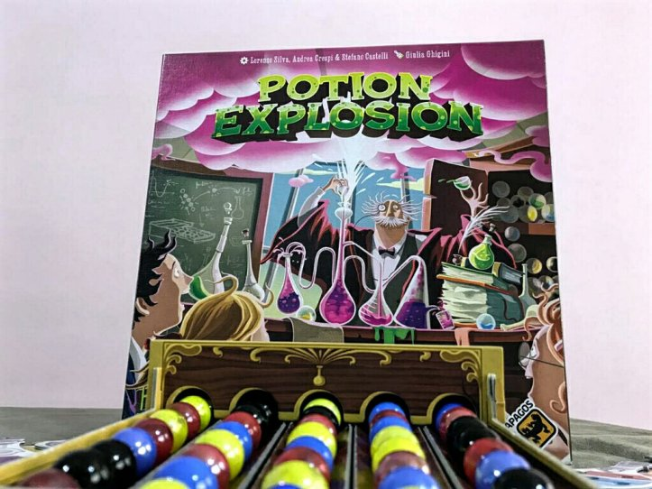 O dispenser de ingredientes do jogo Potion Explosion