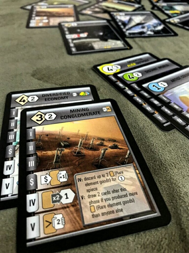 Cartas de tecnologia do jogo Race for the Galaxy