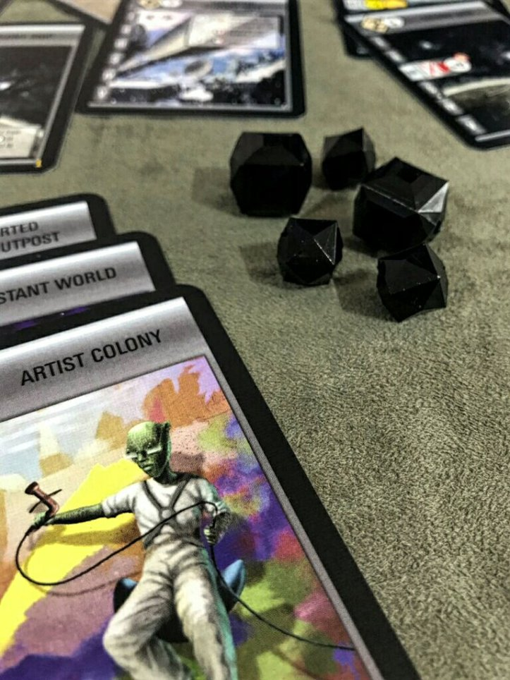 Marcadores de pontos de vitória customizados do jogo Race for the Galaxy