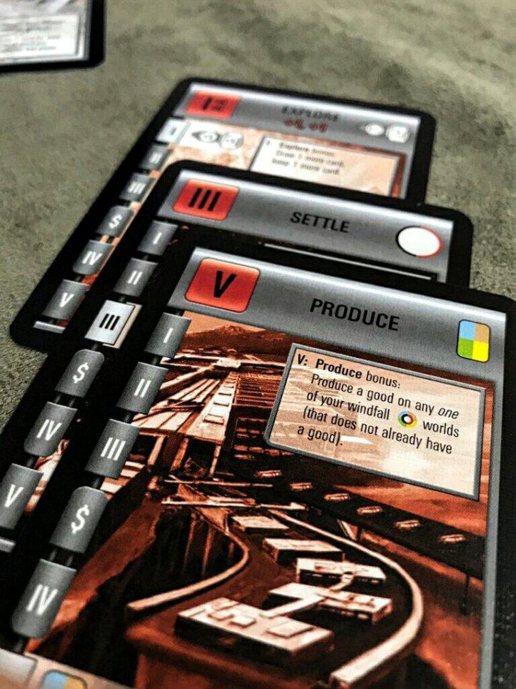 Cartas de ações do jogo Race for the Galaxy