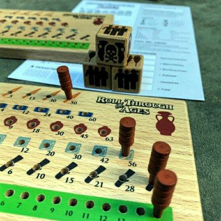 Marcador de recursos do jogo Roll Through the Ages