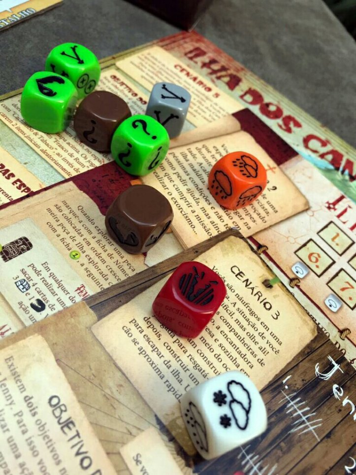 Dados do jogo cooperativo Robinson Crusoe